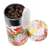 Black Dragon Pearls Tea with Washi Tea Canister (8oz)