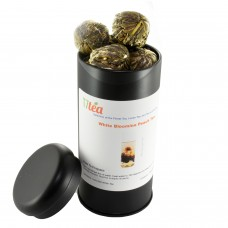 18 Blooming White Peach Tea- Tea Tin (Black)