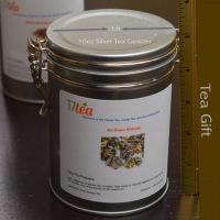 Ali Shan Oolong Tea 10oz Silver Canister