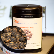 7oz Tea Gift Tin- Black Dragon Pearls Tea