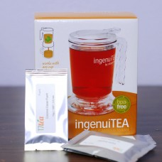 IngenuiTEA Teapot 16oz & Tea Sampler Set