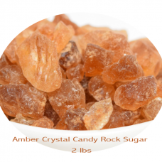 Amber Crystal Candy Rock Sugar 2 lbs