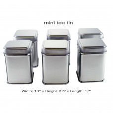 6 pcs Mini Tea Tins with Slip Lid