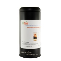 "Black Tea Tin 5oz Cylinder 6""x 2"""