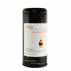 "Black Tea Tin 5oz Cylinder 6""x 2"""