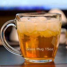 Tapered Glass Mug 15oz Clear- 2pcs set