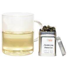 Tempered Glass Mug Set with 1oz Tea Sampler