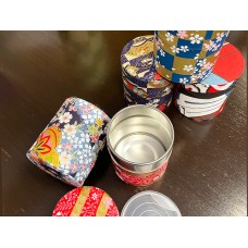 Tea Canister with Washi Paper (Assorted)